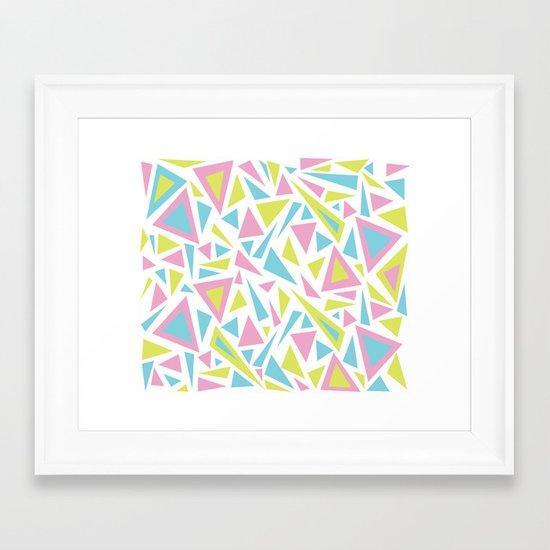 Pastel Triangles Framed Art Print