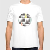 Triangle pattern Mens Fitted Tee White SMALL