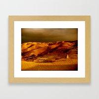 Sunset Desert Framed Art Print