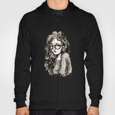 Girl with glasses Hoody