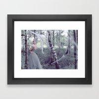 Silver Wisp Framed Art Print