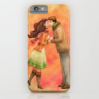iPhone & iPod Case featuring Cold Weather Kiss by Sarah J