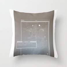 Pixel Screencapture - Are They Pixels Or Stars? Throw Pillow
