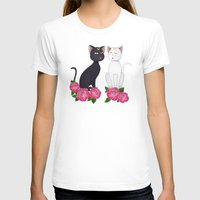 anime T-shirts featuring Anime Cats by MyimagesArt