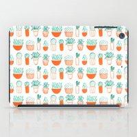 cacti pattern iPad Case
