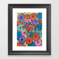 AUTISM OF PEACE AND LOVE Framed Art Print
