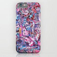 Blue & pink portrait.  iPhone 6 Slim Case