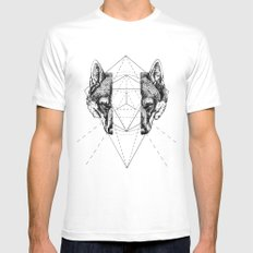 Geometry Within  Mens Fitted Tee White LARGE