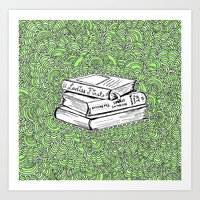 Book Drawing Meditation (digital)  Art Print