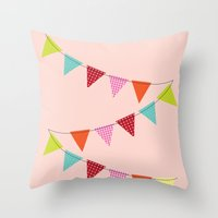 Hooray for girls! Throw Pillow