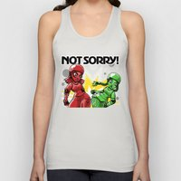 Not Sorry Roller Derby Art by RonkyTonk Unisex Tank Top