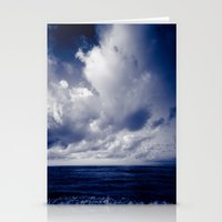 summer ver.blueblack Stationery Cards