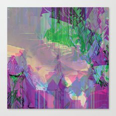 Glitched Landscape 2 Canvas Print