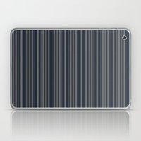 Steel Blue Double Stripes Laptop & iPad Skin