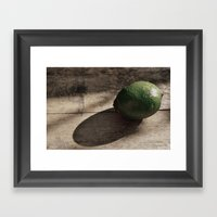 Still Life- Lime Framed Art Print