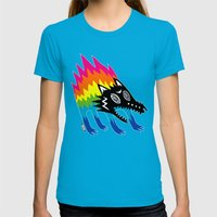 Screech Womens Fitted Tee Teal SMALL