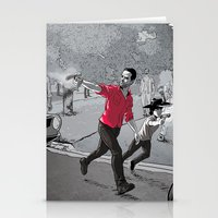 walking dead Stationery Cards featuring The Walking Dead by Steven P Hughes