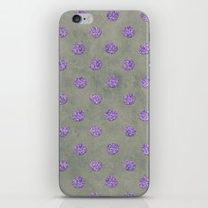 Purple Dots Of Glitter iPhone & iPod Skin