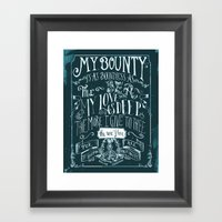 Love Quote Framed Art Print