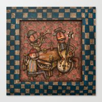 The Small Big Band Canvas Print