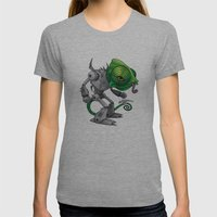 Chameleozoid Womens Fitted Tee Athletic Grey SMALL