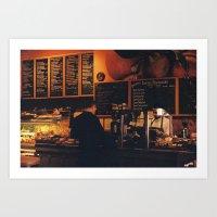 New York City - Upper West Side Café Art Print