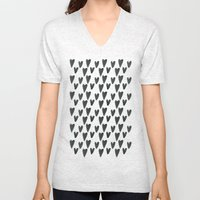 Watercolour Hearts Pattern Unisex V-Neck