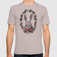 Rabbit portrait Mens Fitted Tee Cinder SMALL
