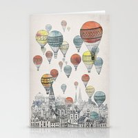 pop art Stationery Cards featuring Voyages over Edinburgh by David Fleck