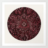 Intimate Portrait In Red Art Print