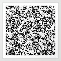 My White Leaves Art Print