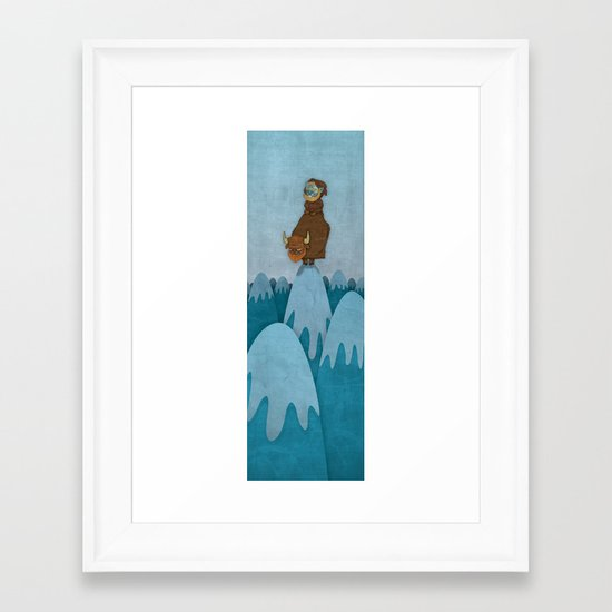 Man of the Mountains Framed Art Print