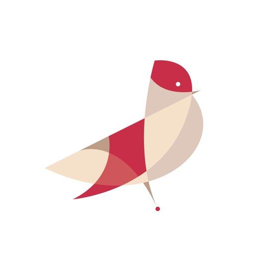 Contours: Cardinal Art Print