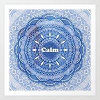 Calming Serenity Blue Ma… Art Print