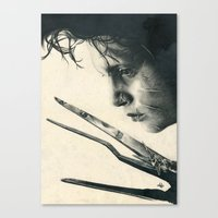 Edward Scissorhands ~ Jo… Canvas Print