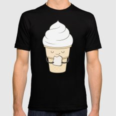 ice cream sandwich Mens Fitted Tee Black SMALL