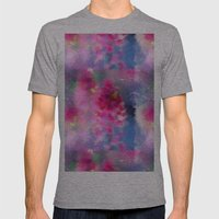 Spring Floral Paint 1 Mens Fitted Tee Athletic Grey SMALL