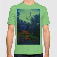 Path of Petals Mens Fitted Tee Grass SMALL