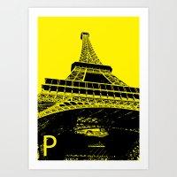 Paris P Art Print