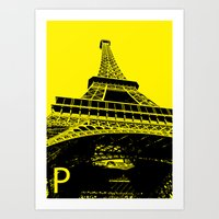 Paris P Art Print
