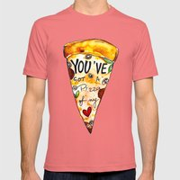 You've got a PIZZA of my Heart Mens Fitted Tee Pomegranate SMALL