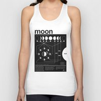 Phases of the Moon infographic Unisex Tank Top