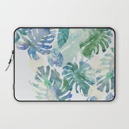 Laptop Sleeve - tropical cold leaves - franciscomffonseca