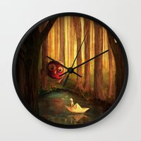 Forest Encounter Wall Clock