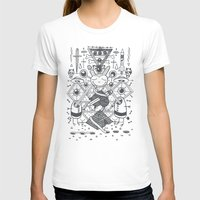 eyes Womens Fitted Tee White SMALL
