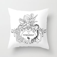 Leo & Tiger Throw Pillow