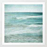 soft waves Art Print