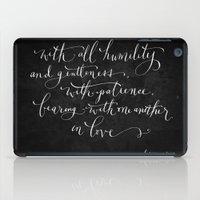 Bearing in Love // White on Black iPad Case