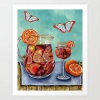 Sangria Summer Art Print