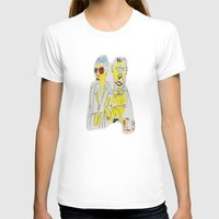 Ma And Pa Sun Womens Fitted Tee White SMALL